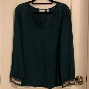 Emerald New York and Company Long Sleeve Shirt.